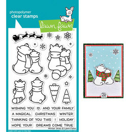 PREORDER - Lawn Fawn - Clear Stamps - Winter Skies LF1763