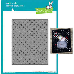 Lawn Fawn - Lawn Cuts Dies - Polka Heart Backdrop: Portrait LF1831