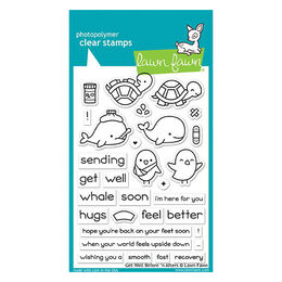 Lawn Fawn - Clear Stamps - Get Well Before 'n Afters LF1886
