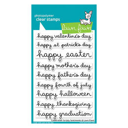 Lawn Fawn - Clear Stamps - Celebration Scripty Sentiments LF1898