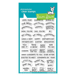 Lawn Fawn - Clear Stamps - Reveal Wheel Spring Sentiments LF1900