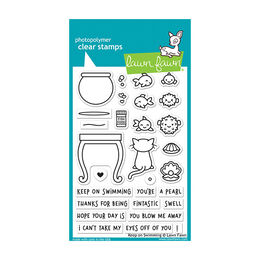 Lawn Fawn - Clear Stamps - Keep On Swimming LF1955