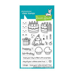 PREORDER - Lawn Fawn - Clear Stamps - Birthday Before 'N Afters LF1958