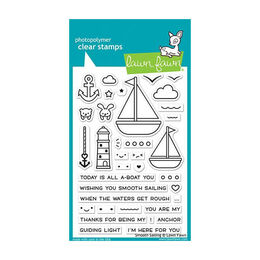 Lawn Fawn - Clear Stamps - Smooth Sailing LF1965