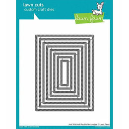 Lawn Fawn - Lawn Cuts Dies - Just Stitching Double Rectangles LF1993