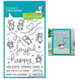 Lawn Fawn - Clear Stamps - Mice On Ice LF2031