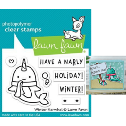 Lawn Fawn - Clear Stamps - Winter Narwhal LF2038