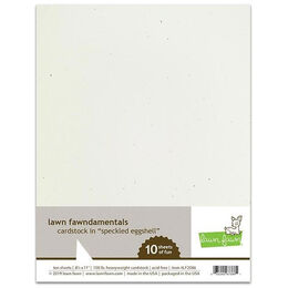 Lawn Fawn - Cardstock - Speckled Eggshell LF2086