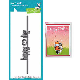 Lawn Fawn - Lawn Cuts Dies - Happy Heart Day Line Border