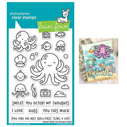 Lawn Fawn - Clear Stamps - Ocean Shell-Fie LF2329