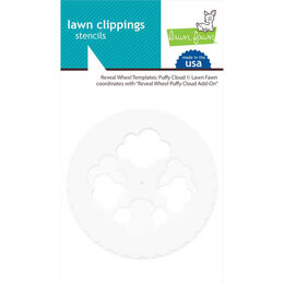 Lawn Fawn Stencils - Reveal Wheel Templates: Puffy Cloud LF2350