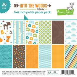 Lawn Fawn Petite Paper Pack 6 x 6 - Into The Woods Remix LF2385