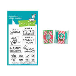 Lawn Fawn - Clear Stamps - Shutter Card Holiday Sayings LF2430
