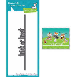 Lawn Fawn - Lawn Cuts Dies - Trick Or Treat Line Border LF2448