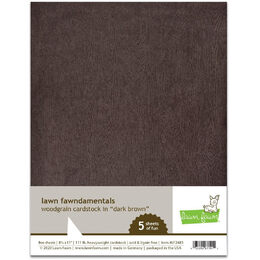 Lawn Fawn - Woodgrain Cardstock - Dark Brown LF2483