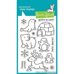 Lawn Fawn - Clear Stamps - Critters in the Snow LF312