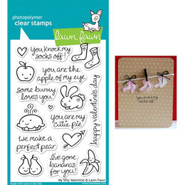 Lawn Fawn - Clear Stamps - My Silly Valentine LF332