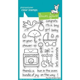 Lawn Fawn - Clear Stamps - Plus One LF337