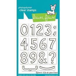 Lawn Fawn - Clear Stamps - Quinn's 123s LF392