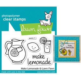 Lawn Fawn - Clear Stamps - Make Lemonade LF395