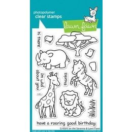 Lawn Fawn - Clear Stamps - Critters on the Savanna LF448