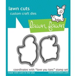 Lawn Fawn - Lawn Cuts Dies - Love You Tons Dies LF600