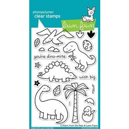 Lawn Fawn - Clear Stamps - Critters from the Past LF602