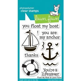 Lawn Fawn - Clear Stamps - Float My Boat LF654