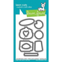 Lawn Fawn - Lawn Cuts Dies - Milk and Cookies Dies LF726