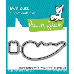Lawn Fawn - Lawn Cuts Dies - Year Five Dies LF808