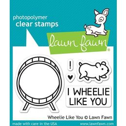Lawn Fawn - Clear Stamps - Wheelie Like You LF838
