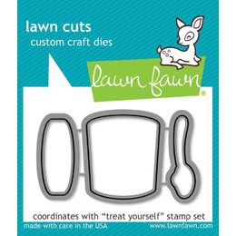 Lawn Fawn - Lawn Cuts Dies - Treat Yourself  LF898