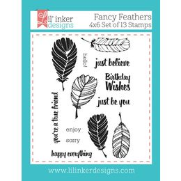 Lil' Inker Designs Stamps - Fancy Feathers