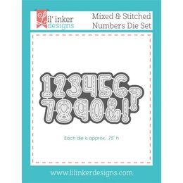 Lil' Inker Designs Die Set - Mixed & Stitched Numbers