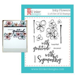 Lil' Inker Designs Stamps - Inky Flowers