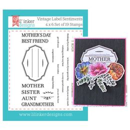 Lil' Inker Designs Stamps - Vintage Label Sentiment