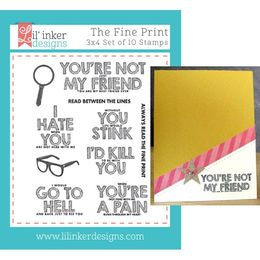 Lil' Inker Designs Stamps - The Fine Print