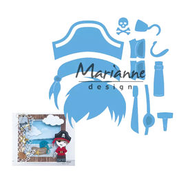 Marianne Design - Creatables Dies - Kim's Buddies Pirate LR0527
