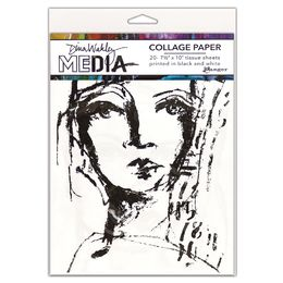 Ranger Dina Wakley Media Collage Paper - Faces MDA63827