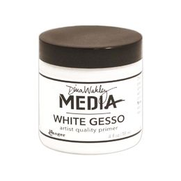 Dina Wakley Media Gesso 4oz Jar - White MDM41689