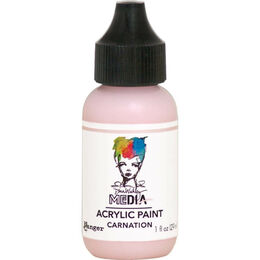 Ranger Dina Wakley Media Acrylic Paint 1oz - Carnation MDQ65593