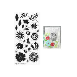 My Favorite Things - Clear Stamps - Brushstroke Blooms