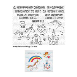 My Favorite Things - Clear Stamps - Rainbows & Unicorns