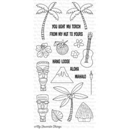 My Favorite Things - Clear Stamp - Tiki Party
