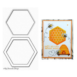 My Favorite Things - Die-namics - Hexagon Shaker Window & Frame