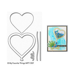 My Favorite Things - Die-namics - Heart Balloon Shaker Window & Frame