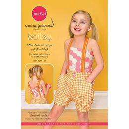 Modkid - Sewing Pattern - Girl Shorts & Romper BAILEY MKSP-058BA