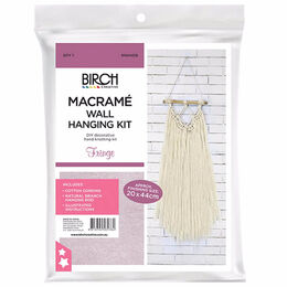 Birch Macrame Wall Hanging Kit - Fringe MWH018