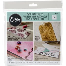 "Sizzix Paper Leather 6""X6"" Sheets 20/Pkg -ÌÎÌ_ÌÎ___Basics Assorted"