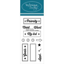 "Technique Tuesday - Clear Stamps 2""X4"" - Planner-Priority PLPRIO"